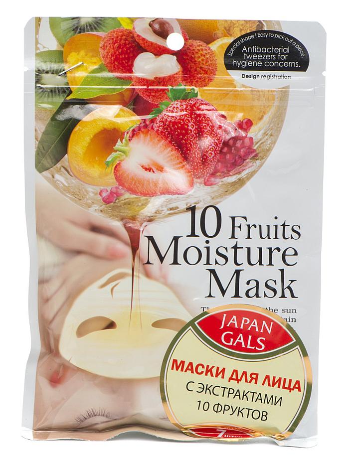 Маска для лица Japan Gals с 10 фруктами