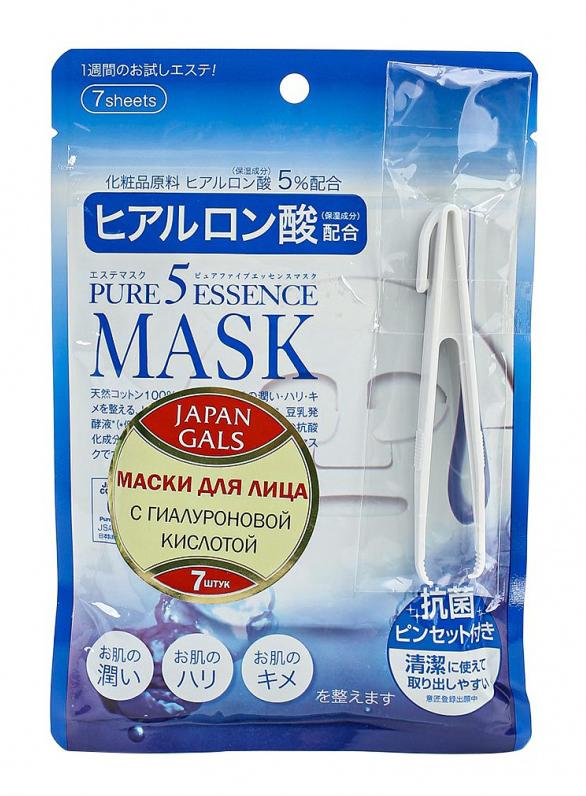 Маска для лица Japan Gals с гиалуроновой кислотой