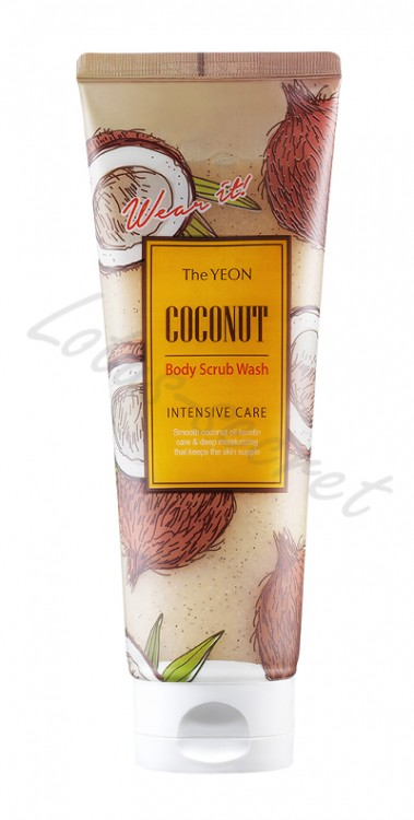 Скраб для тела с маслом кокоса The Yeon Coconut Body Scrub Wash (Intensive Care)