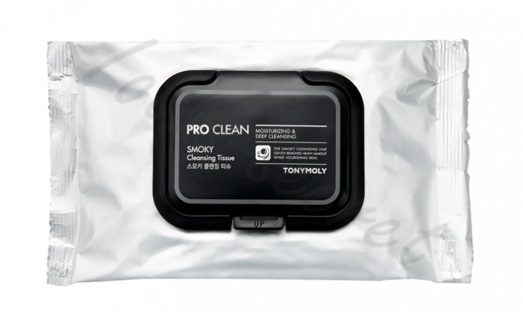 Очищающие салфетки Tony Moly Pro Clean Smoky Cleansing Tissue