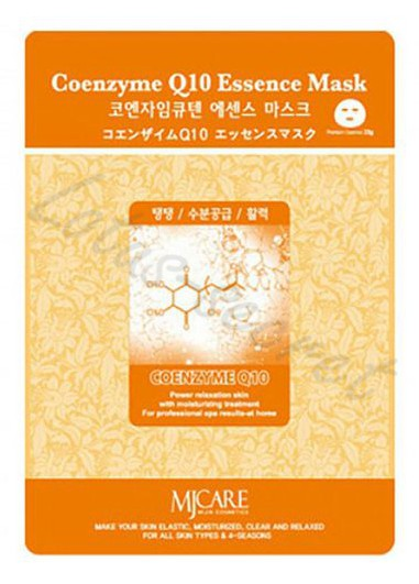 Маска тканевая с конзимом Q10 MJ Care Coenzyme Q10 Essence Mask