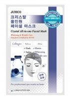 Маска тканевая с коллагеном MiJin Junico Crystal All-in-one Facial Mask Collagen