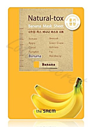 Маска-детокс тканевая банановая The Saem Natural-tox Banana Mask Sheet