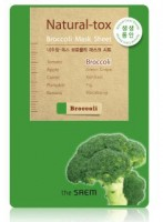Маска-детокс тканевая с экстрактом брокколи The Saem Natural-tox Broccoli Mask Sheet