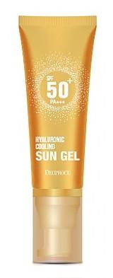 Гель солнцезащитный освежающий легкий с гиалуроновой кислотой Deoproce Hyaluronic Cooling Sun Gel  SPF 50+/ PA+++