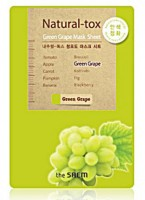 Маска-детокс тканевая с экстрактом зеленого винограда The Saem Natural-tox Green Grape Mask Sheet