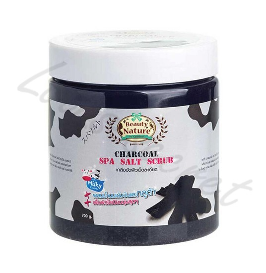 Скраб солевой Уголь Carebeau Beauty Nature Charcoal Spa Salt Scrub