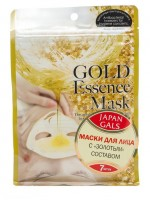 "Маски для лица с ""золотым"" составом Gold Essence Mask Japan Gals, 7 шт."