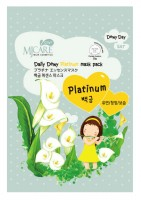 Маска тканевая с платиной MJ Care Daily Dewy Platinum mask pack